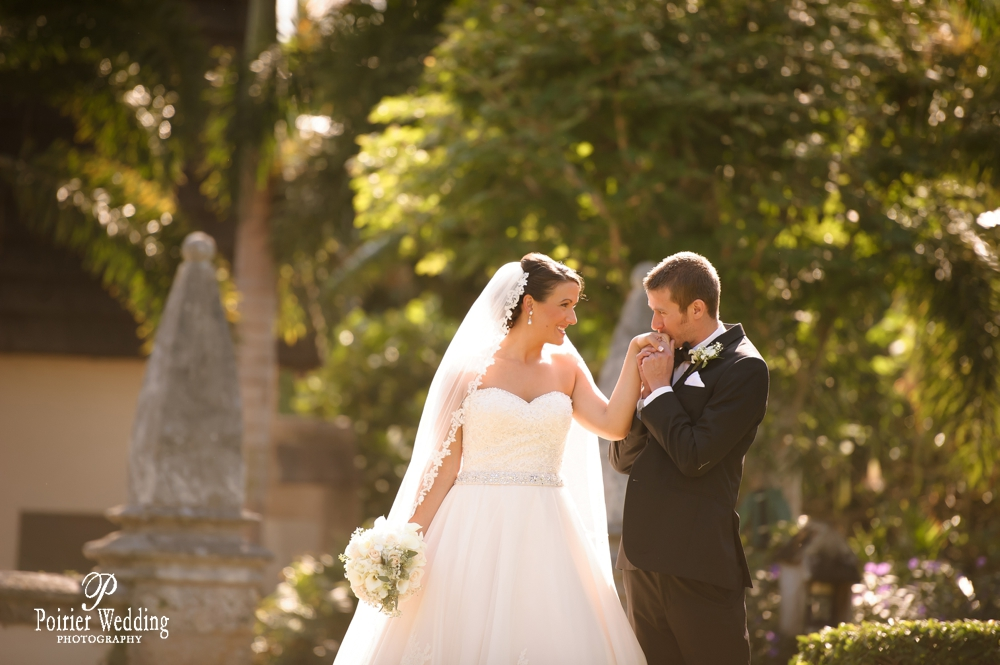 Bride and groom at the Bethesda by the Sea Palm Beach