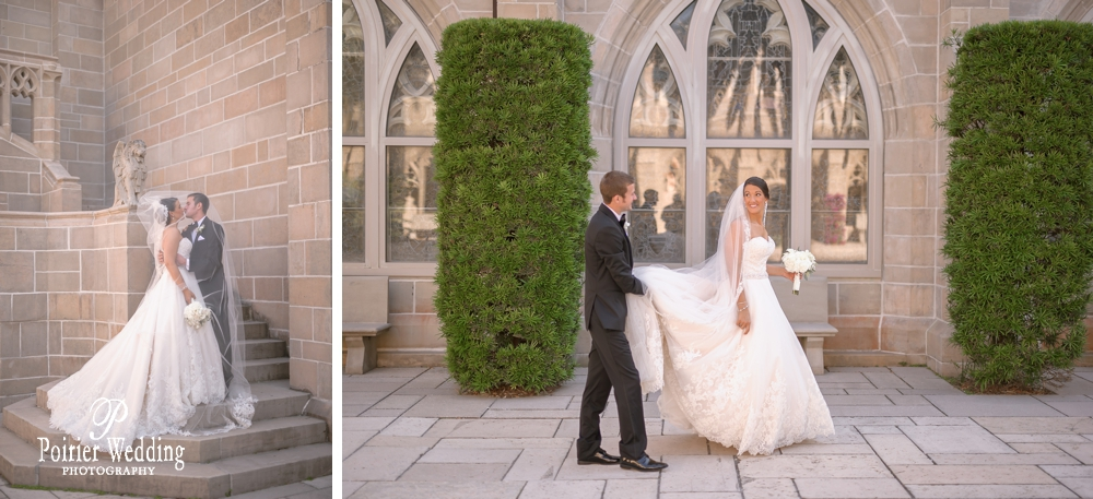 Bride and groom at the Bethesda by the Sea in Palm Beach