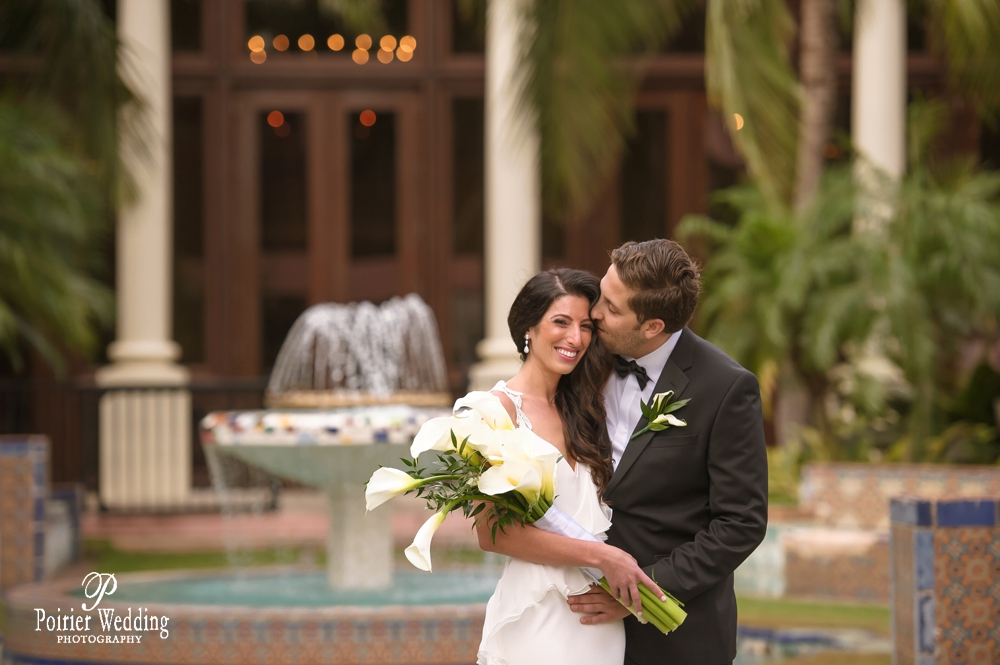 Bride and groom at the Boca Resort