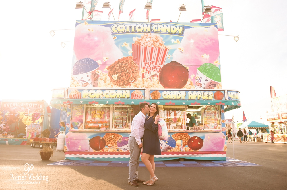 Engagement shoot fun with carnival theme