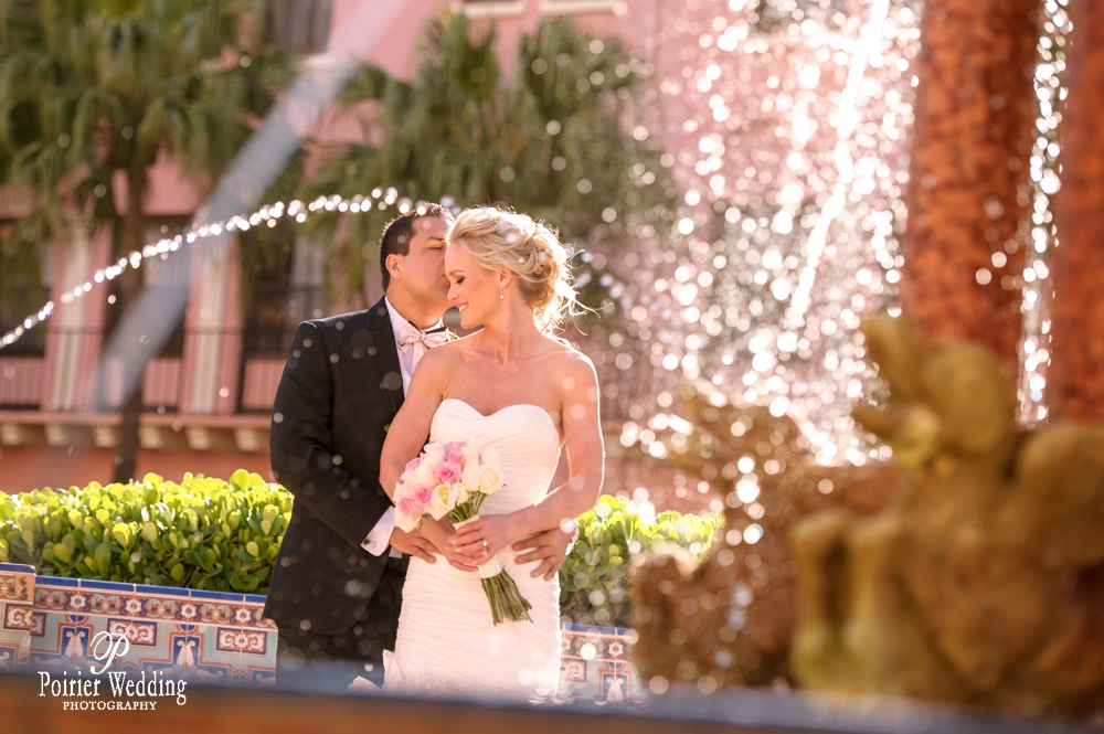 Bride and Groom at the Boca Raton Resort