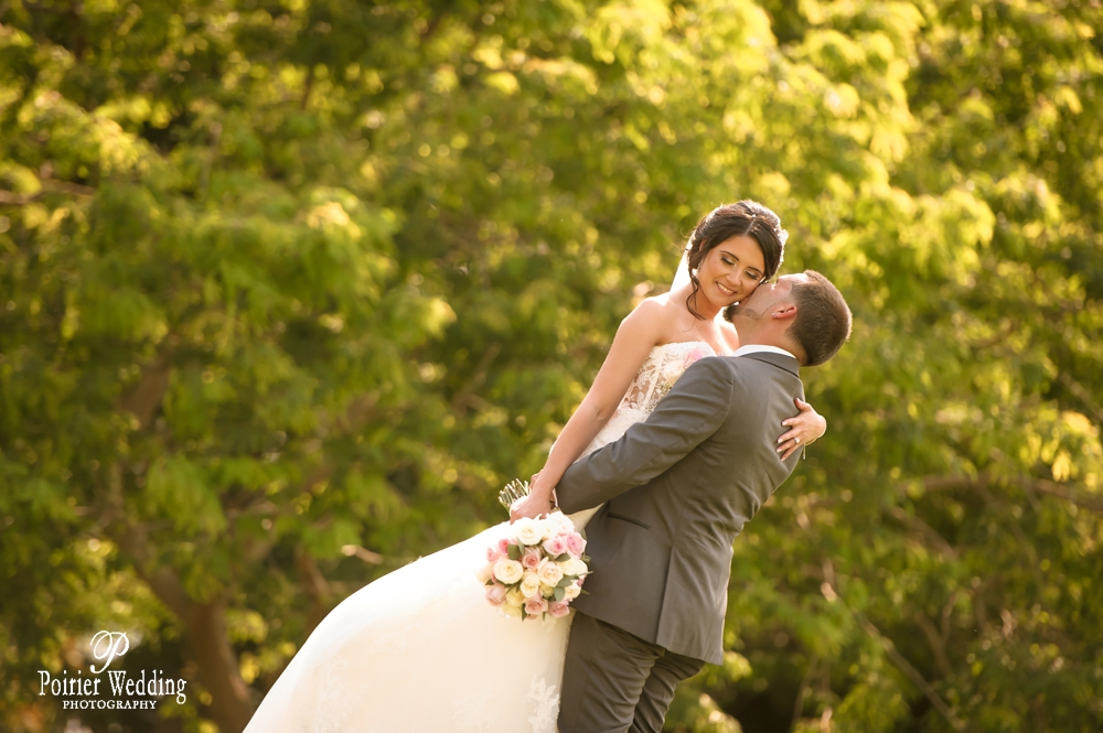 Candid moment of bride and groom at their east coast destination wedding.
