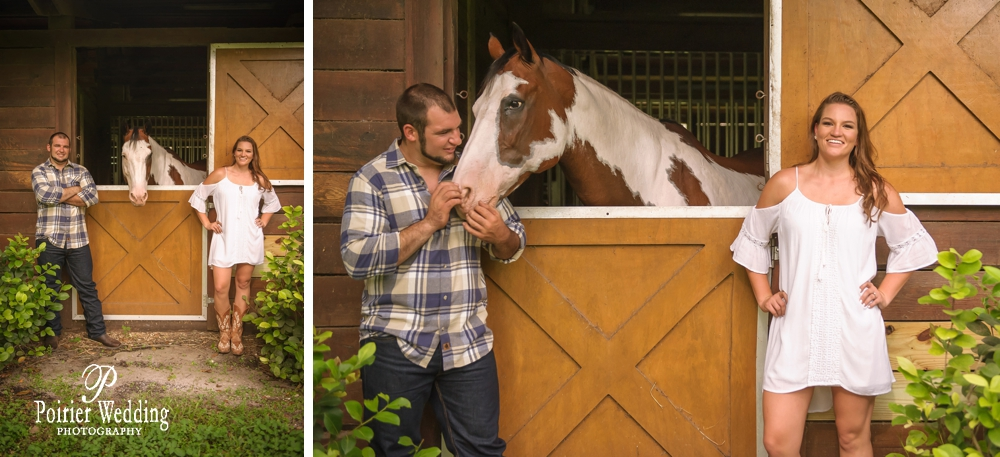 Engagement photo shoot with cute horse in Jupiter Florida